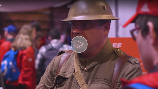 Shorncliffe's Reenactors play their part in EF Tours Vimy 100 Educational Hub